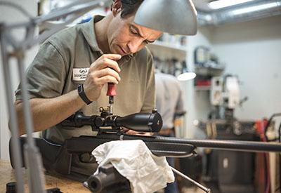 montaje de visor en armas