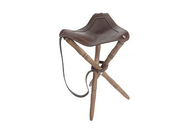 silla caza cuero